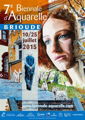Affiche biennale aquarelle brioude