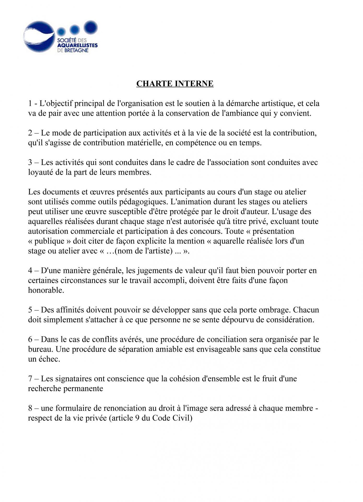 Charte interne 2